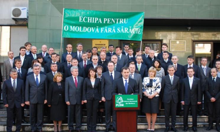 Echipa PLDM pentru alegerile parlamentare din 28 noiembrie 2010