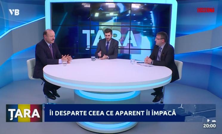 """Votul privind noțiunea """"integrarea europeană"""" în Constituție, dezbătut în emisiunea ȚARA"""