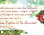 Crăciun fericit și un 2019 plin de pace și bucurie