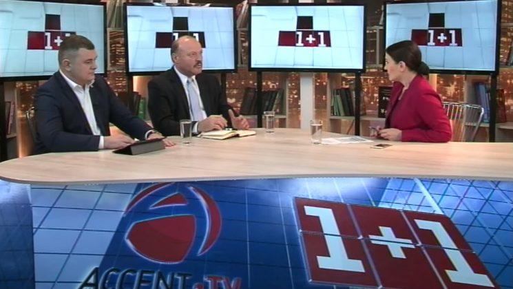 Григорий Новак и Валериу Гилецки в программе 1+1