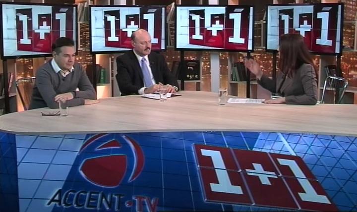 Валериу Гилецкий и Валерий Осталеп в программе 1+1